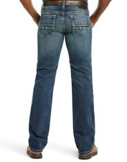 Ariat Men's M7 Rocker Stackable Straight Leg Stretch Low Rise Slim Fit Stackable Straight Leg Jeans - Silverton