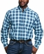Ariat Men's Pro Series Classic Fit Long Sleeve Plaid Button Down Shirt - Multi