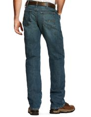 Ariat Men's Rebar M4 DuraStretch Low Rise Relaxed Fit Basic Boot Cut Jeans - Carbine