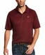 Ariat Men's Tek Polo Short Sleeve Solid Button Shirt - Maroon