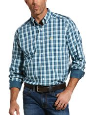 Ariat Men's Wrinkle Free Classic Fit Long Sleeve Plaid Button Down Shirt - Multi