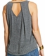 Ariat Women's Out West Sleeveless Open Back Print Tank Top - Eiffel Tower