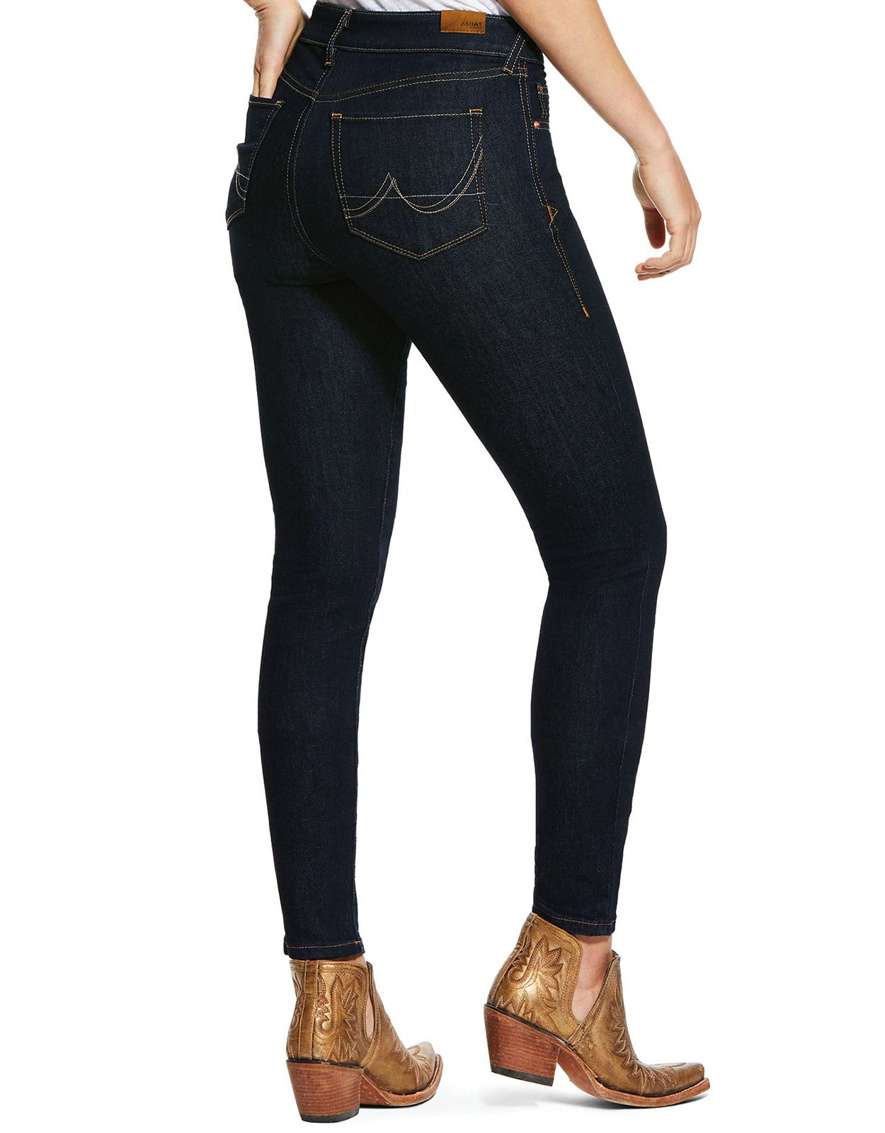 Ariat Women's Perfect Rise Ultra Stretch Mid Rise Skinny Jeans - Rinse