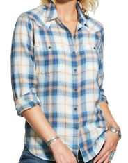 Ariat Women's R.E.A.L. Billie Jean Long Sleeve Relaxed Fit Plaid Button Down Shirt - Summer Fling