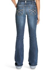 Ariat Women's R.E.A.L. Cooling Mid Rise Slim Fit Boot Cut Jeans - Gemstone