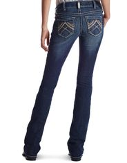 Ariat Women's R.E.A.L. Low Rise Slim Fit Boot Cut Jeans - Lakeshore