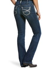 Ariat Women's R.E.A.L. Mid Rise Slim Fit Stackable Straight Leg Jeans - Dresden