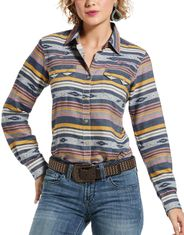Ariat Women's REAL Long Sleeve Stripe Snap Shirt - Multi