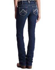 Ariat Women's R.E.A.L. Stretch Mid Rise Slim Stackable Straight Leg Jeans - Ocean