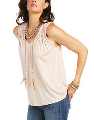 Ariat Women's Sleeveless Solid Tank Top - Pink