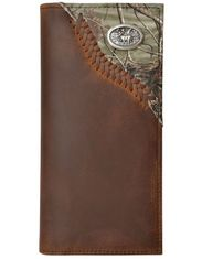 Badger Deer Concho Laced Outdoor Rodeo Wallet - Distressed Brown