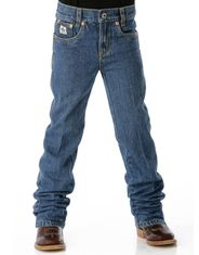 Cinch Boy's Original Fit Mid Rise Classic Fit Tapered Leg Jeans (Sizes 1T-4T) - Medium Stonewash