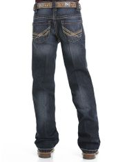 Cinch Boy's Performance Denim Mid Rise Relaxed Fit Boot Cut Jeans (Sizes 4-7) - Rinse