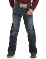 Cinch Boy's Performance Denim Mid Rise Relaxed Fit Boot Cut Jeans (Sizes 8-18) - Rinse