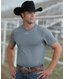 Cinch Men's Arenaflex Short Sleeve Heathered Athletic Tee Shirt - Gray