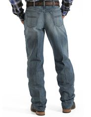 Cinch Men's Black Label 2.0 High Rise Loose Fit Tapered Leg Jeans - Medium Stonewash