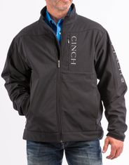 Cinch Men's Bonded Concealed Carry Solid Zip Logo Jacket - Black