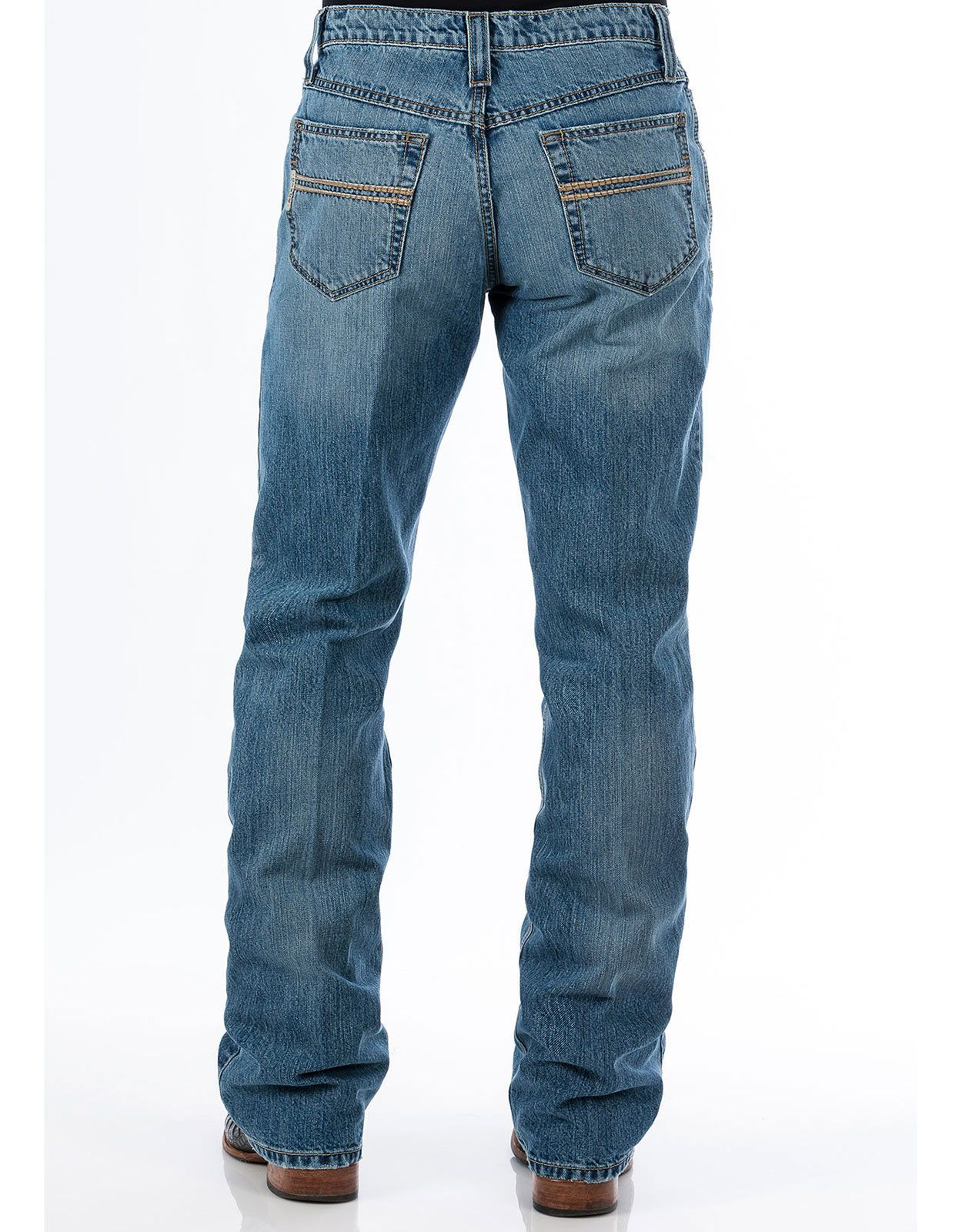 Cinch Men's Carter 2.0 Mid Rise Relaxed Fit Boot Leg Jeans - Light Stonewash