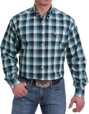 Cinch Men's Long Sleeve Plaid Button Down Shirt - Multi