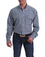 Cinch Men's Long Sleeve Plaid Double Pocket Button Down Shirt - Multi