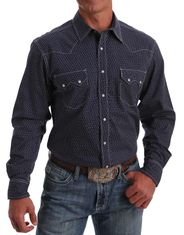 Cinch Men's Long Sleeve Print Snap Shirt - Multi