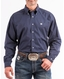 Cinch Men's Long Sleeve Solid Button Down Shirt - Navy