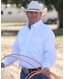 Cinch Men's Long Sleeve Solid Double Pocket Button Down Shirt - White