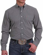Cinch Men's Modern Fit Long Sleeve Print Button Down Shirt - Multi