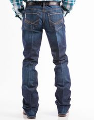 Cinch Men's Performance Denim Ian Mid Rise Slim Fit Boot Cut Jeans - Dark Stonewash