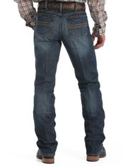 Cinch Men's Performance Denim Silver Label Mid Rise Slim Fit Straight Leg Jeans - Dark Stonewash