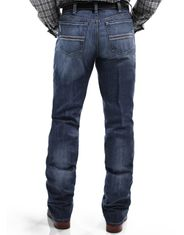 Cinch Men's Performance Denim Silver Label Mid Rise Slim Fit Straight Leg Jeans - Medium Stonewash