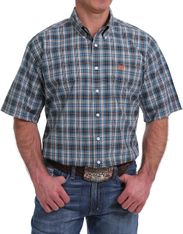 Cinch Men's Short Sleeve Plaid Button Down Shirt - Multi