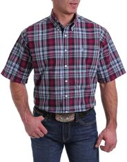 Cinch Men's Short Sleeve Plaid Button Down Shirt - Multi (Closeout)
