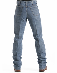 Cinch Mens Bronze Label Slim Fit Jean - Medium Stonewash