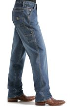 Cinch Men's Blue Label High Rise Loose Fit Tapered Leg Carpenter Jeans - Medium Stonewash