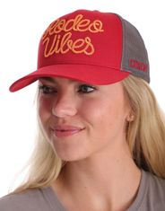 Cinch Women's Embroidered Logo Trucker Cap - Red