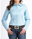 Cinch Women's Long Sleeve Stripe Button Down Shirt - Blue