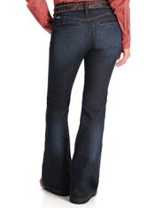 Cinch Women's Lynden Trouser Mid Rise Slim Fit Flare Leg Jeans - Rinse