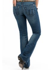 Cruel Women's Abby Stretch Mid Rise Slim Boot Cut Jeans - Medium Stonewash (Closeout)