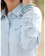 Cruel Women's Arena Fit Long Sleeve Embroidered Snap Shirt - Indigo