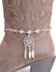 Kamberley Women's Dream Catcher Boot Chain - Silver