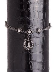 Kamberley Women's Horseshoe and Boot Charm Boot Chain - Black