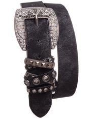Kamberley Women's Studded Fashion Belt - Black