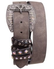 Kamberley Women's Studded Fashion Belt - Pewter
