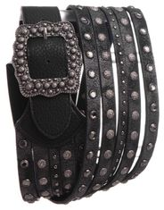 Kamberley Women's Wide Multi Strand Belt - Black