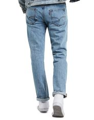 Levi's Men's 501 Mid Rise Regular Fit Straight Leg Jeans - Light Stonewash