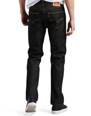Levi's Men's 501 Shrink to Fit Mid Rise Regular Fit Straight Leg Jeans - Black