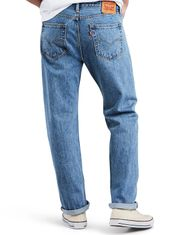 Levi's Men's 505 Mid Rise Regular Fit Straight Leg Jeans - Light Stonewash