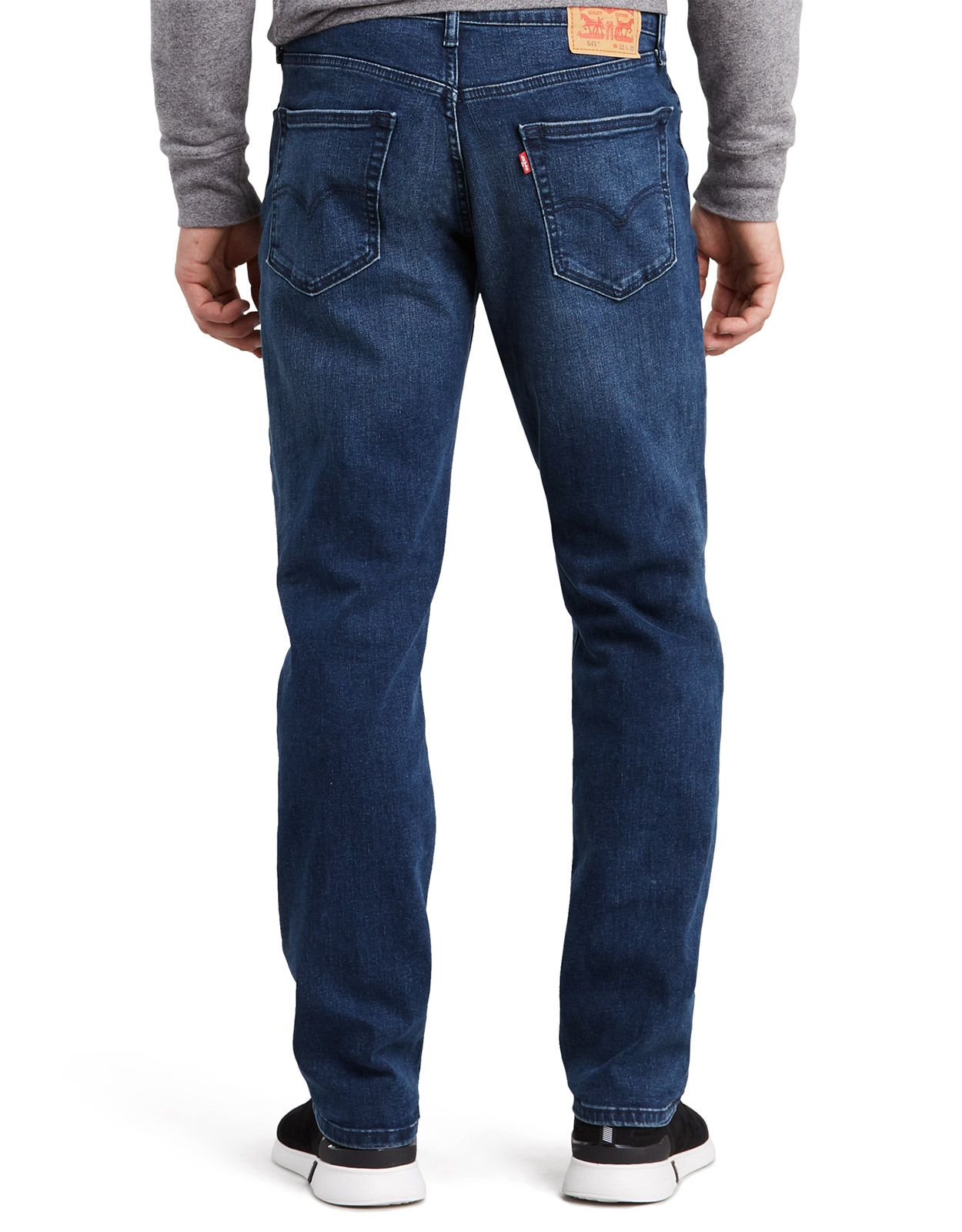 Levi's Men's 541 Stretch Mid Rise Relaxed Fit Tapered Leg Jeans - Husker