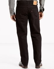 Levi's Men's 550 Relaxed Mid Rise Relaxed Fit Tapered Leg Jeans - Black